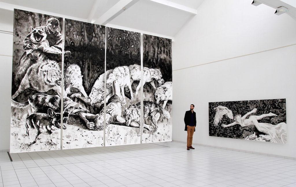 Paolo Boosten À poings fermés exhibition at Fonds d'Art Moderne et Contemporain in Montluçon, 2016.
