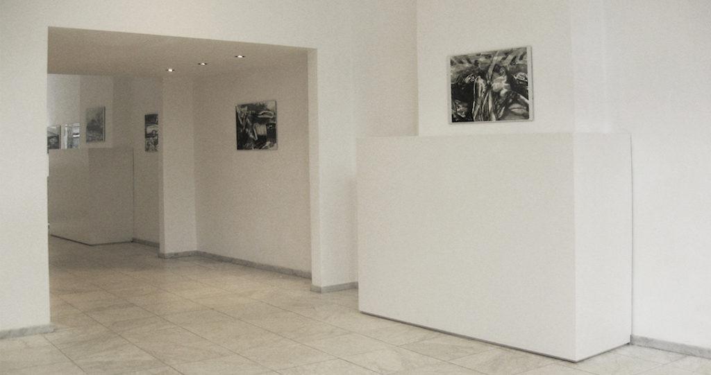 Paolo Boosten Sueur & Pétrole exhibition view, Galerie Dis - Maastricht, 2018.