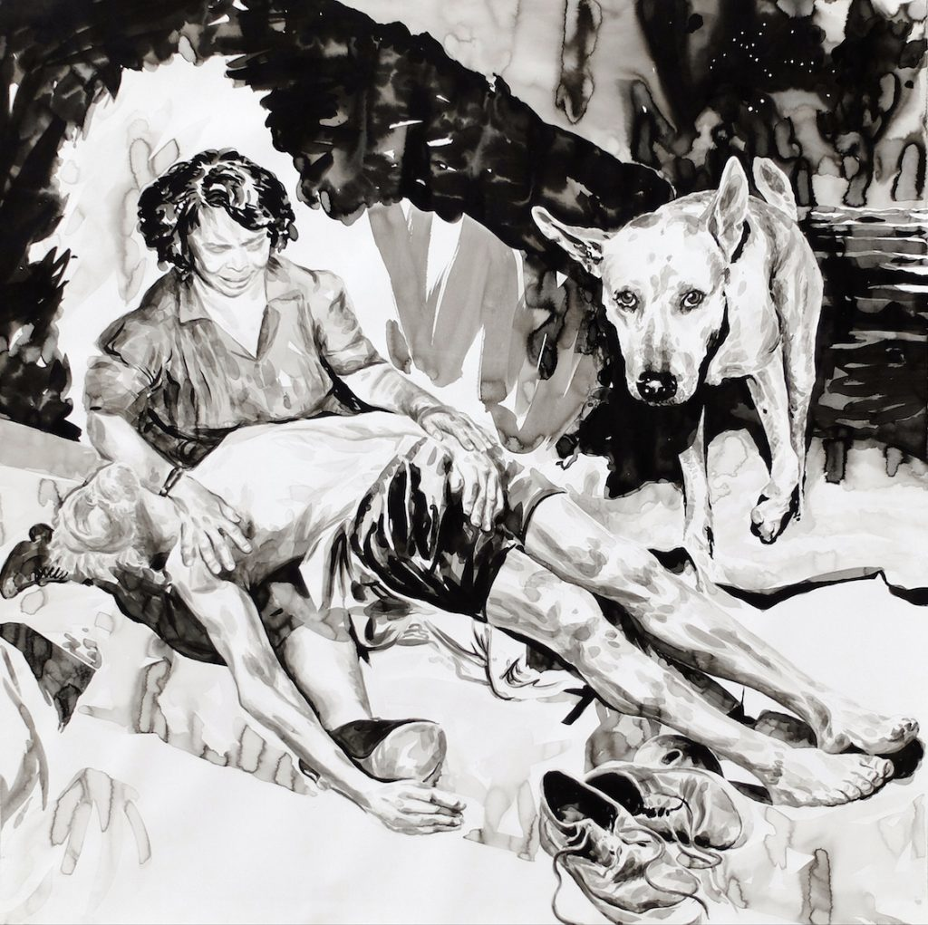 Paolo Boosten Indian Ink painting entitled Proxima Centauri.