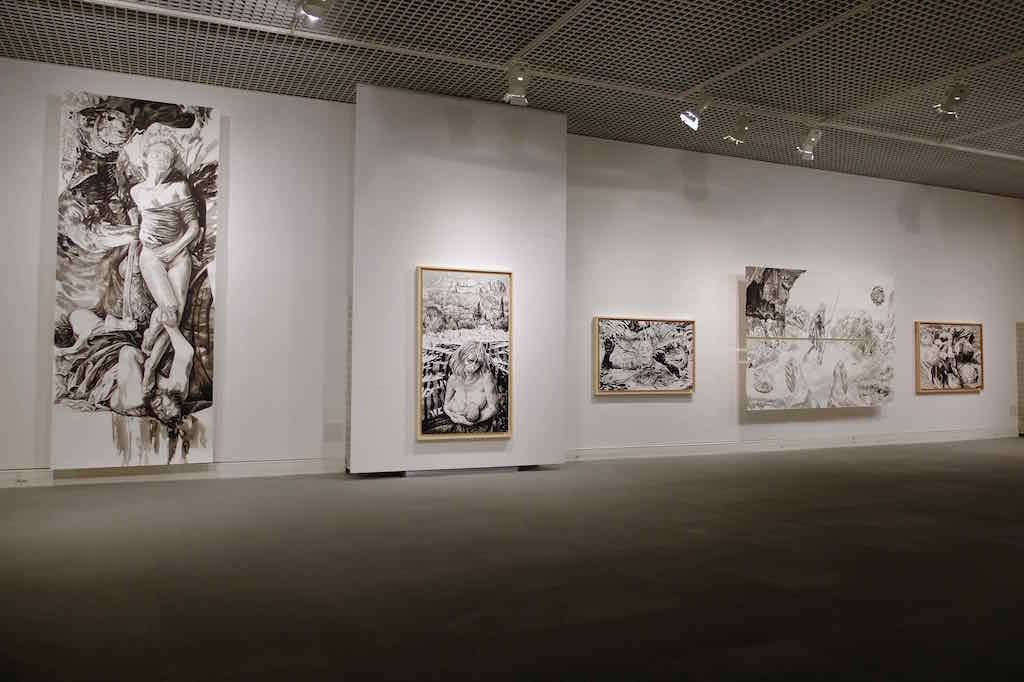 Paolo Boosten œuvres sur papier exhibition view in Saint-Raphaël, 2018.