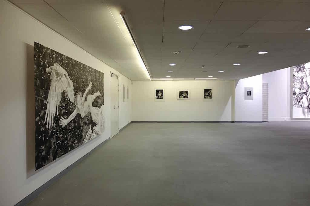 Paolo Boosten exhibition view œuvres sur papier in Saint-Raphaël, 2018.